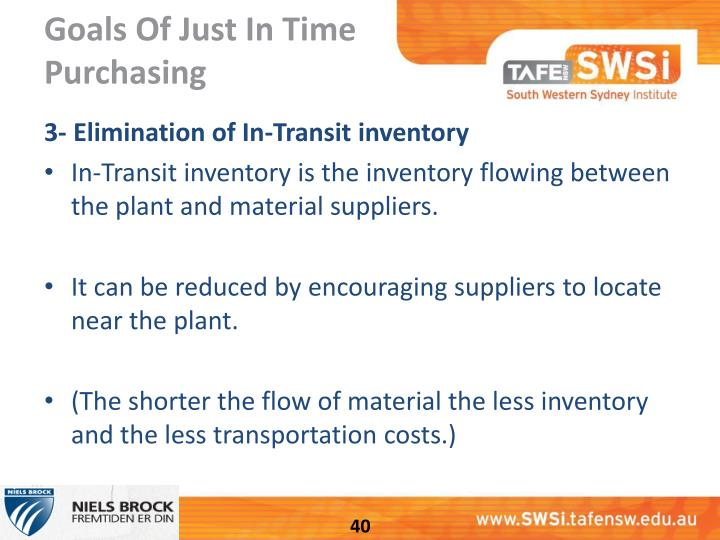 just in time purchasing The just-in-time inventory system is a management strategy that aligns raw-material orders from suppliers directly with production schedules companies use this inventory strategy to increase.