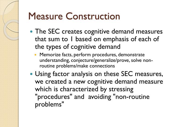 Measure Construction