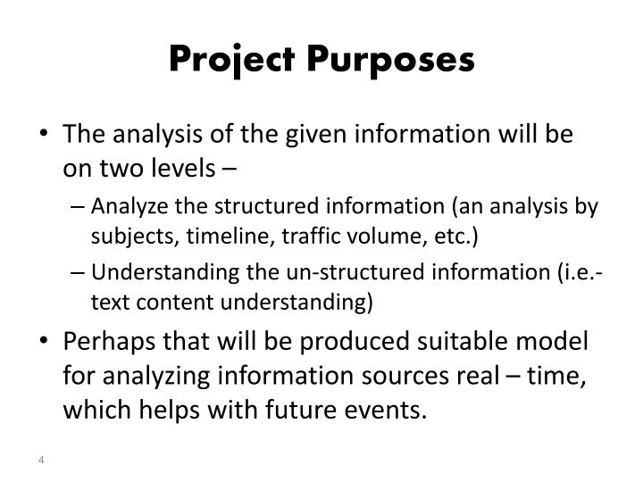 Project Purposes
