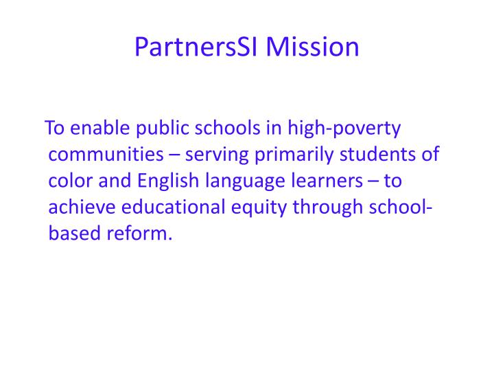 Partnerssi mission