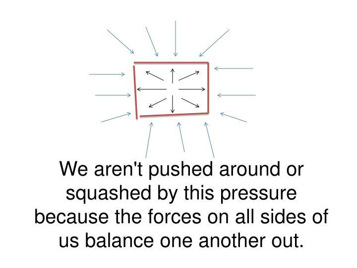 We aren't pushed around