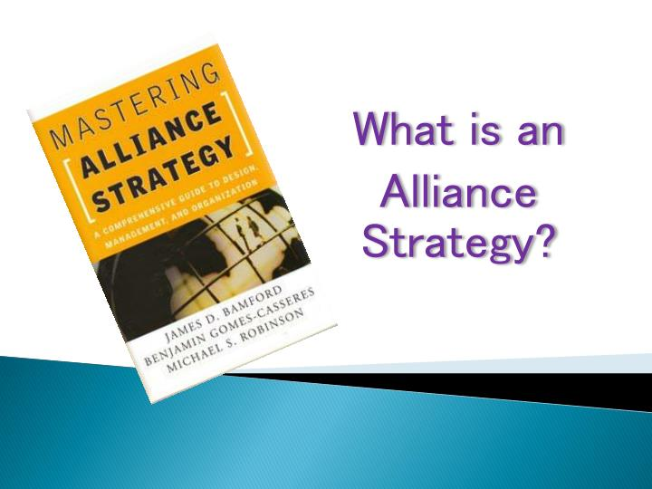 what is an alliance strategy n.