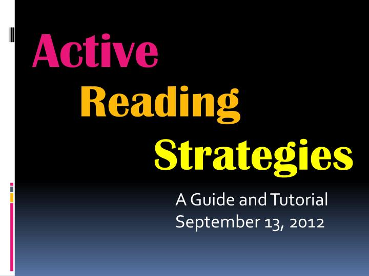 A guide and tutorial september 13 2012