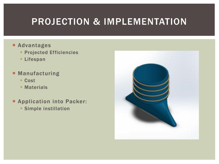Projection & implementation