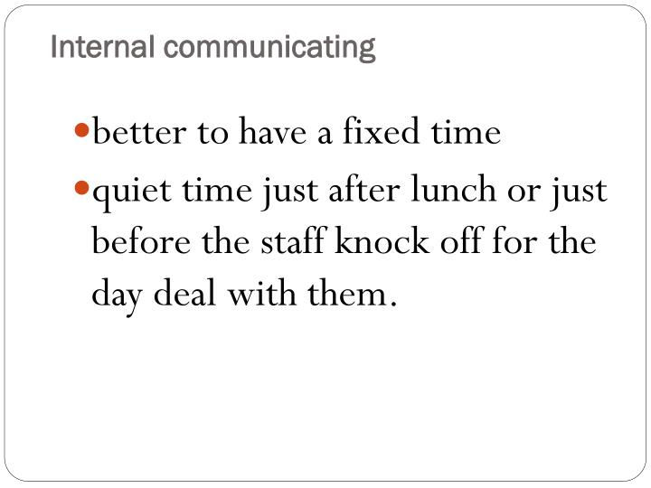 Internal communicating1