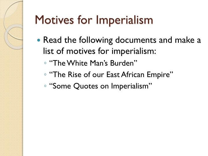 motives of imperialism in africa