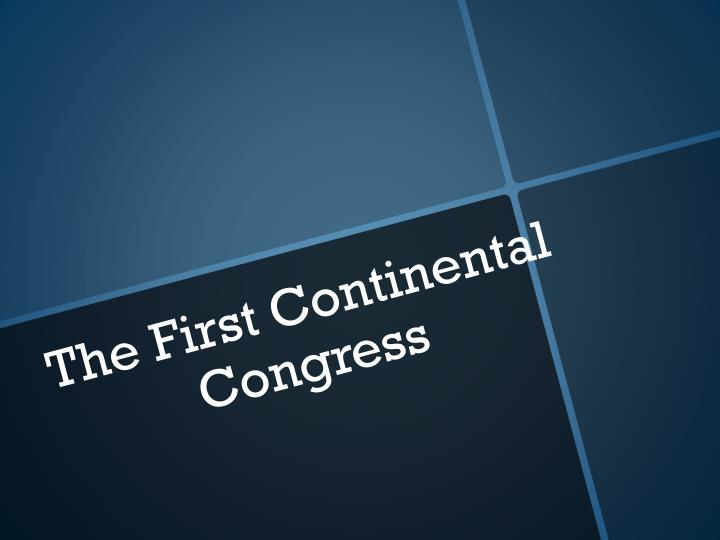 the first continental congress n.