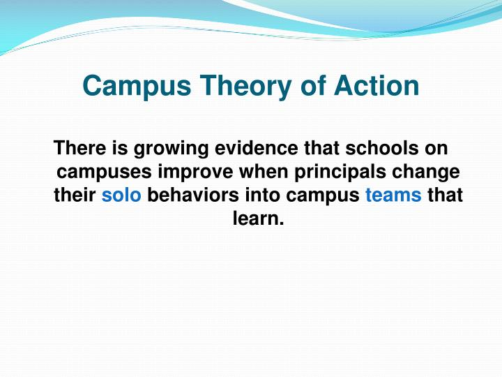 Campus theory of action