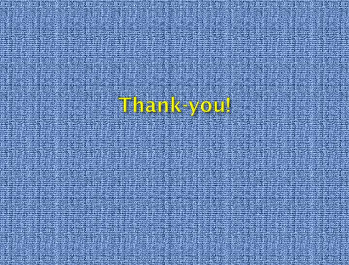 Thank-you!