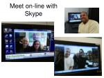 meet on line with skype