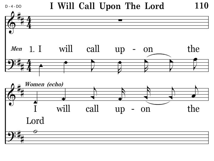 110 - I Will Call Upon The Lord - 1.1
