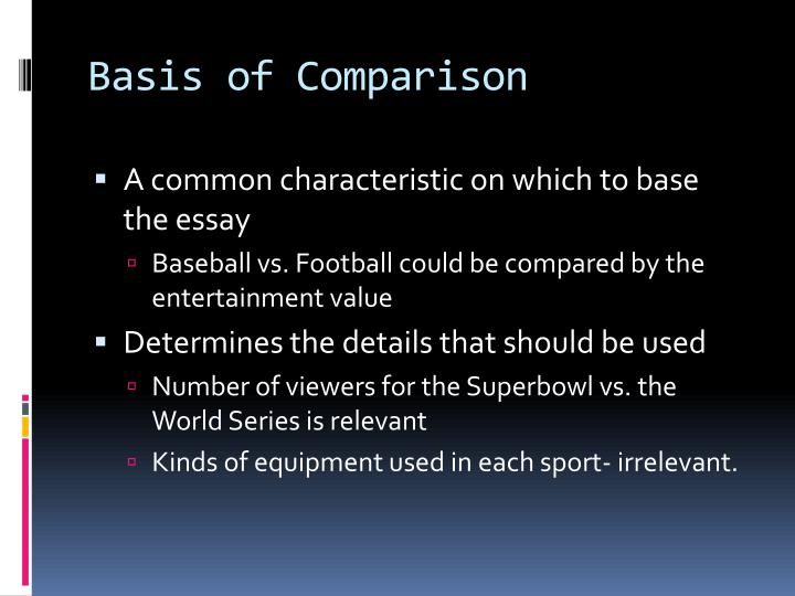 Basis of Comparison