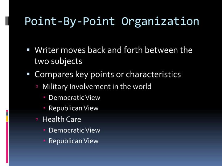 Point-By-Point Organization