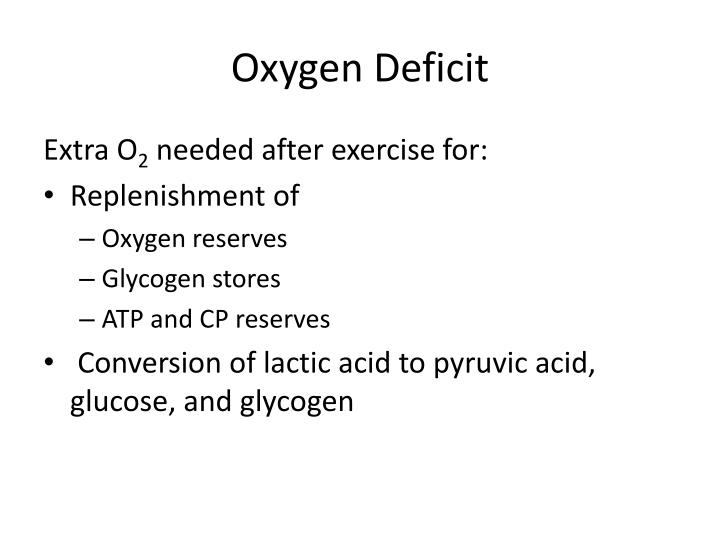 Oxygen Deficit