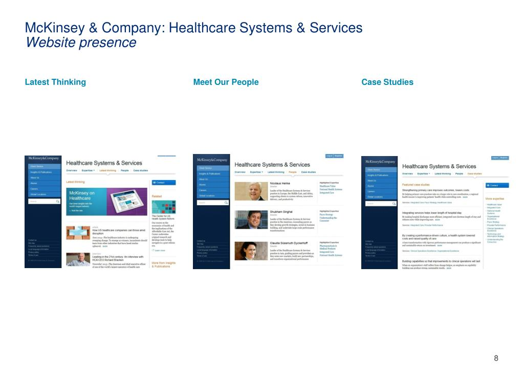 PPT - Review of Digital Presence for Three Healthcare Consulting