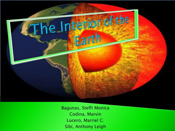 the interior of the earth n.