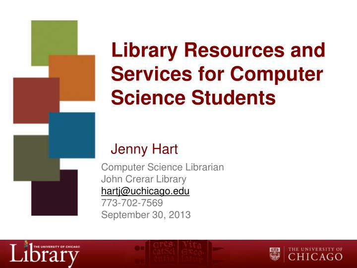library resources and services for computer science students