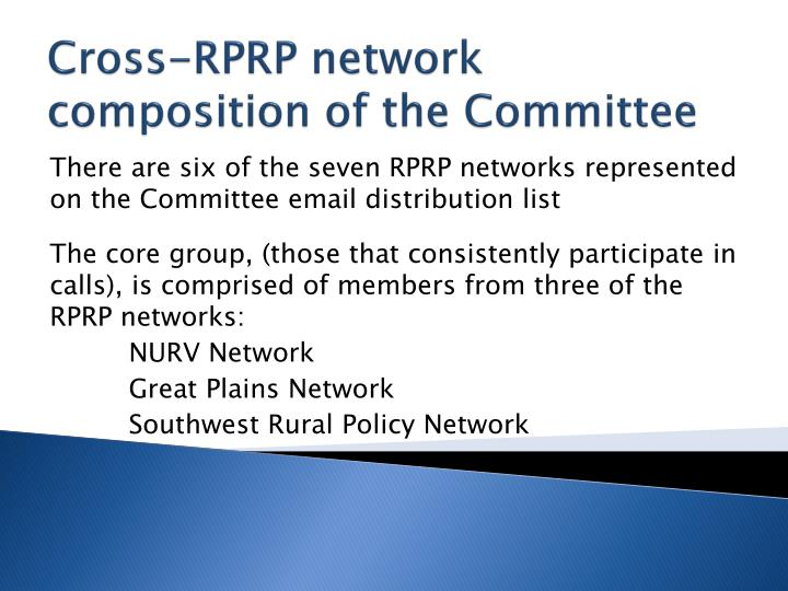 Cross-RPRP network composition of the Committee