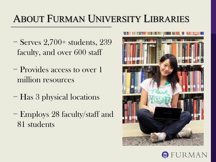 About furman university libraries