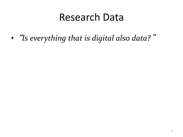 research data n.