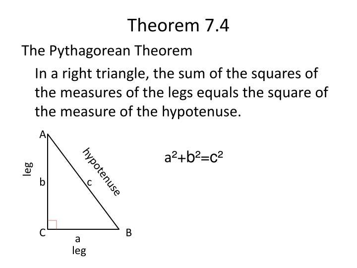 Theorem 7 4