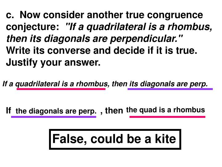 c.  Now consider another true congruence conjecture: