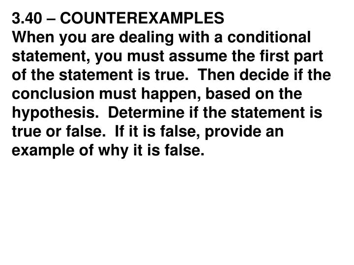 3.40 – COUNTEREXAMPLES
