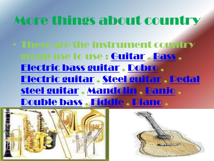 More things about country