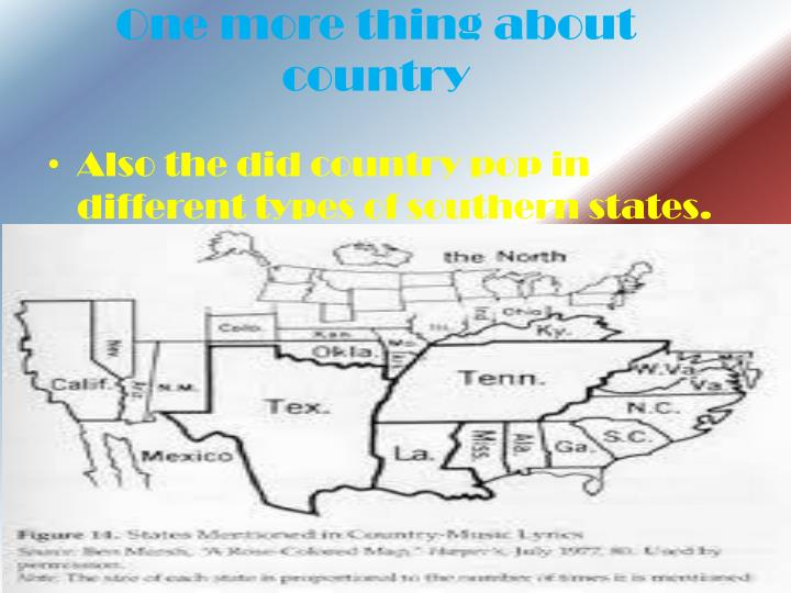 One more thing about country