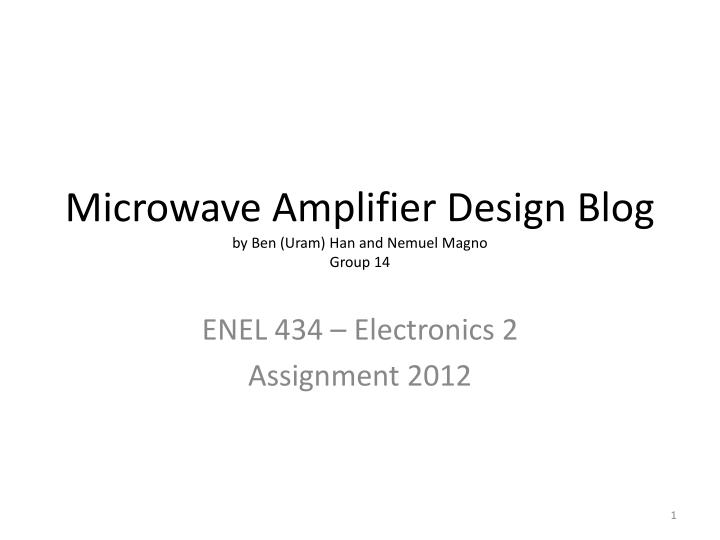 Ppt Microwave Amplifier Design Blog