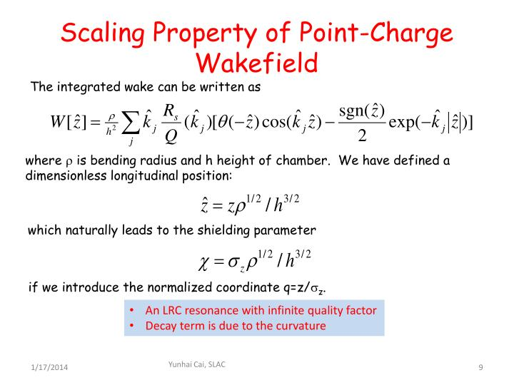 Scaling Property of Point-Charge Wakefield