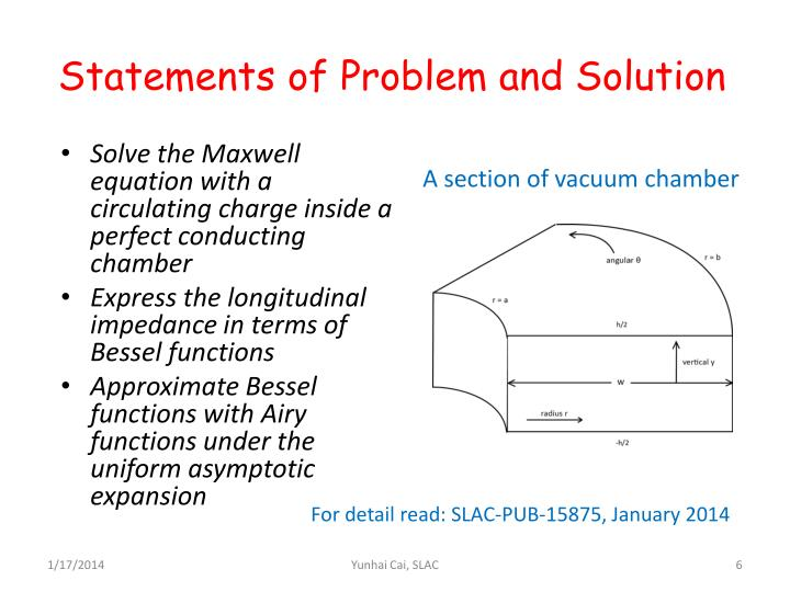 Statements of Problem and Solution