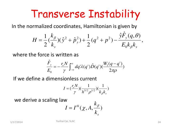 Transverse Instability