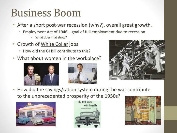 Business boom