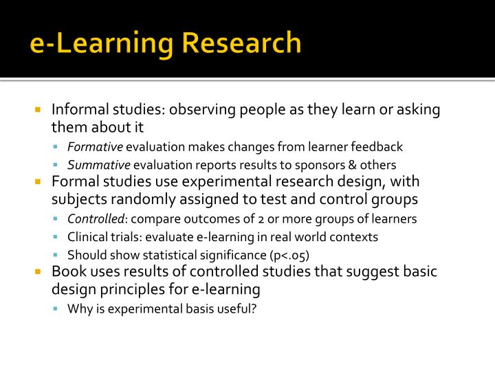 e-Learning Research