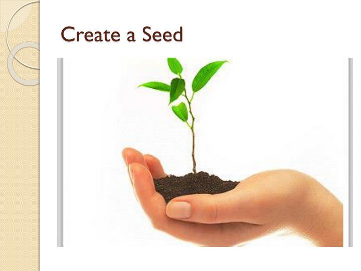 Create a Seed