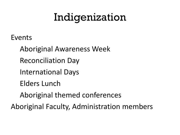 Indigenization
