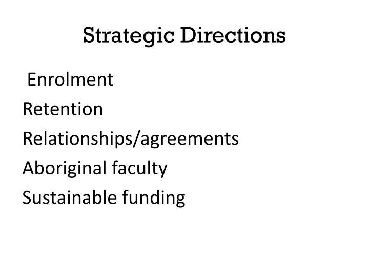 Strategic Directions