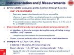 instrumentation and b measurements