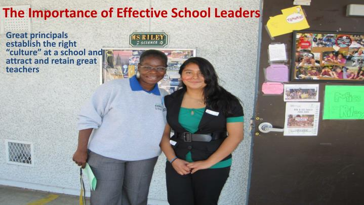 The Importance of Effective School Leaders