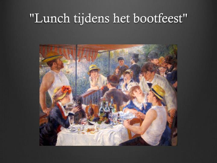 Lunch tijdens het bootfeest