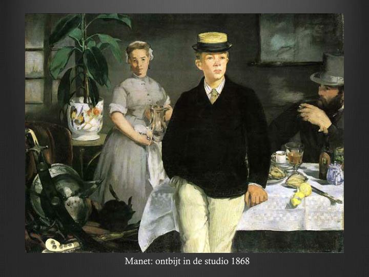Manet: ontbijt in de studio 1868