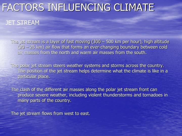 Factors influencing climate1