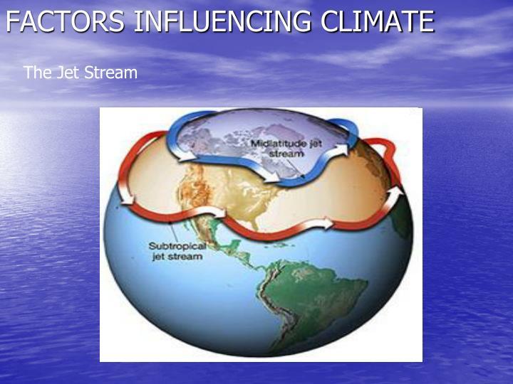 Factors influencing climate2