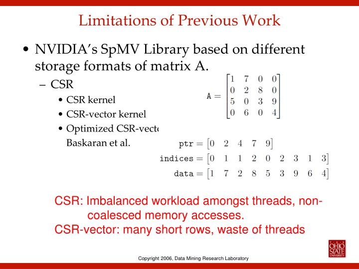 Limitations of Previous Work