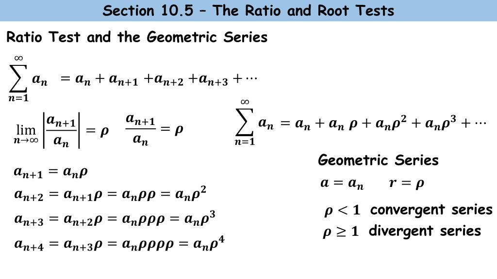 PPT - The Ratio Test: PowerPoint Presentation - ID:2842021