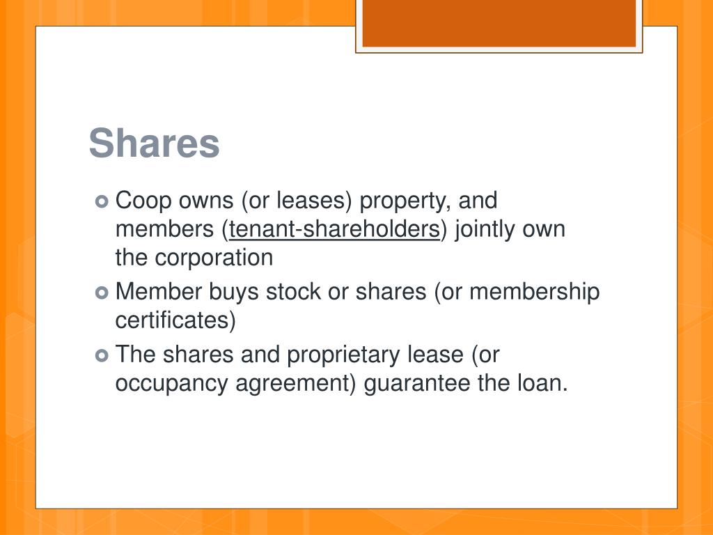 PPT - HOUSING COOPERATIVES PowerPoint Presentation - ID:2842033