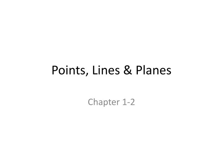 points lines planes n.