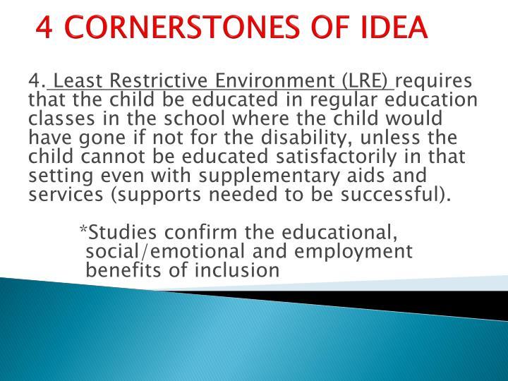 4 cornerstones of idea1