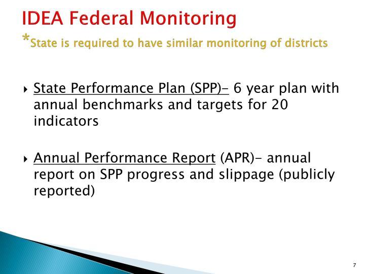 IDEA Federal Monitoring
